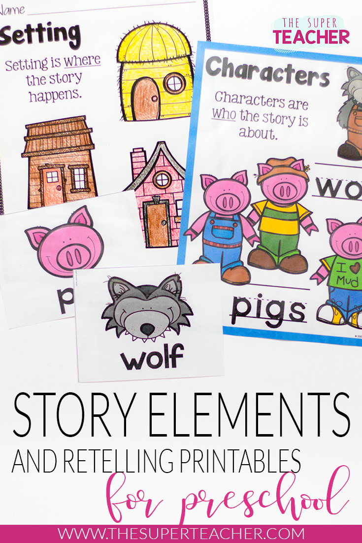 Three Little Pigs Story Elements And Story Retelling Worksheets Pack Story Elements Three Little Pigs Story Story Retell [ 1102 x 735 Pixel ]
