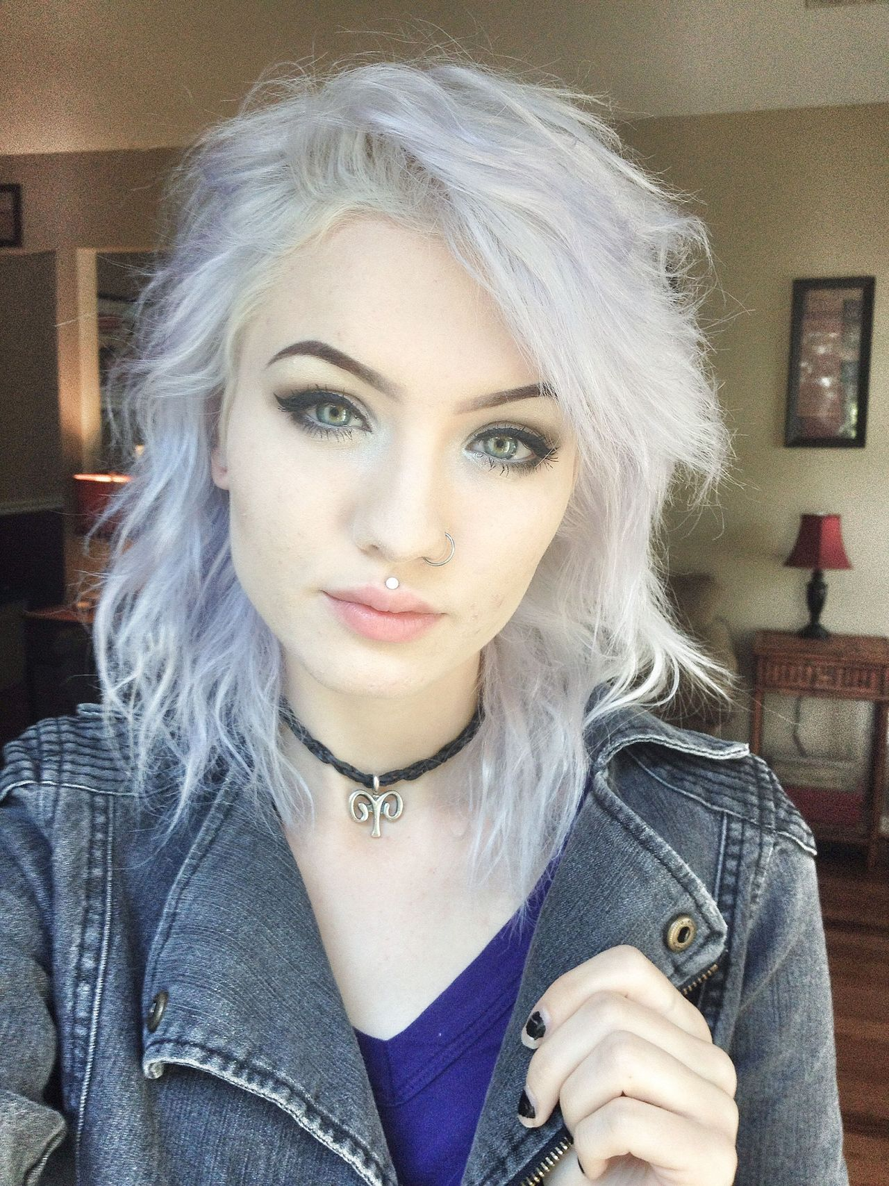 Tousled Platinum White Shoulder Length Hair Hair And Updos - Platinum hairstyles
