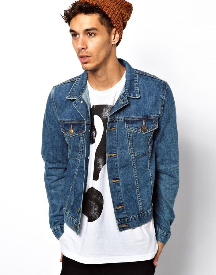 $114, Blue Denim Jacket: Cheap Monday Tobias Denim Jacket. Sold by ...