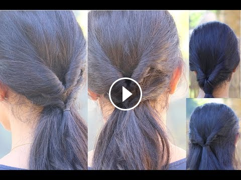 4 Quick Flip Hairstyles For Girls Hairstyles For College Office