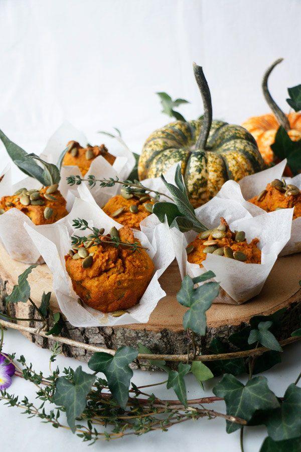 Savoury Pumpkin Muffins (vegan & gluten-free) #pumpkinmuffins