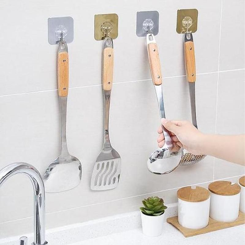 Household Storage Hanger Seamless Adhesive Hook Kitchen Holder Wall Hooks