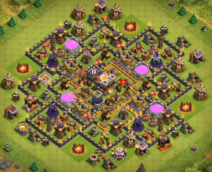 Base Coc Th 10 Anti Loot 5