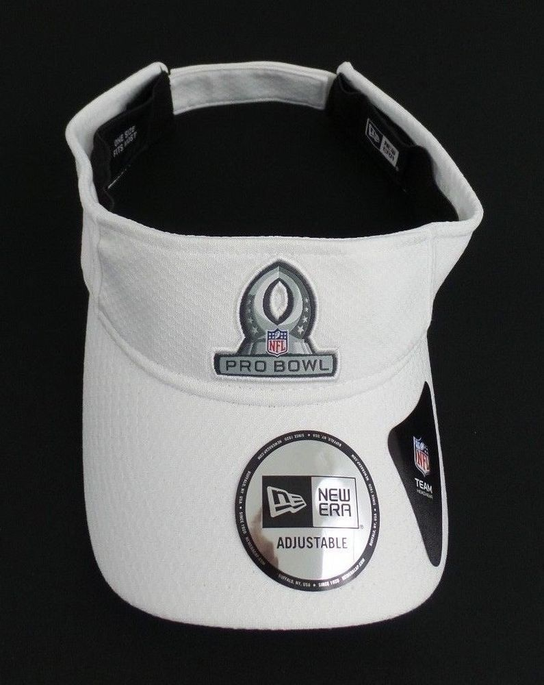 New Era Orlando 2018 NFL Pro Bowl Classic White Adjustable Visor Hat  NewEra 0d2c6c0baca