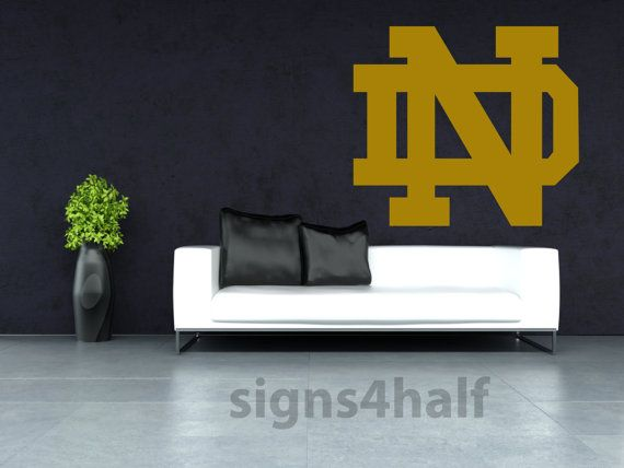 Notre Dame Fighting Irish Replica Removable Wall Art By
