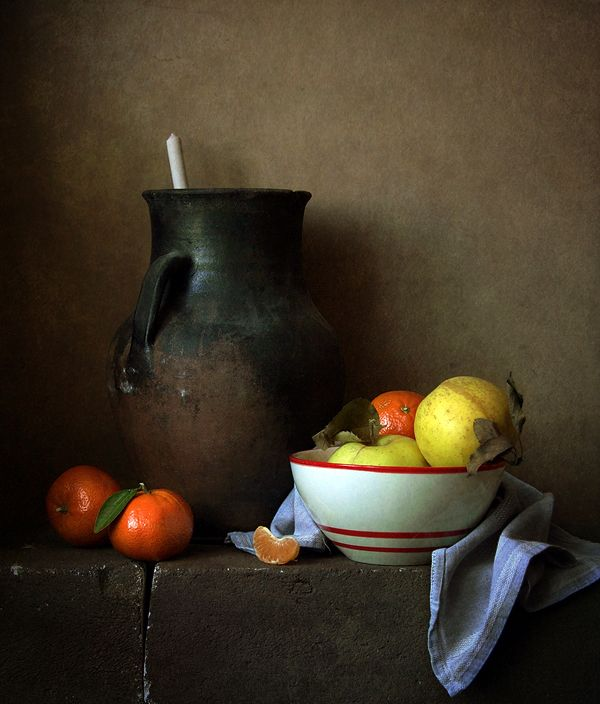 Яблоки и мандарины© Алена Ш  #Still #Life #Photography