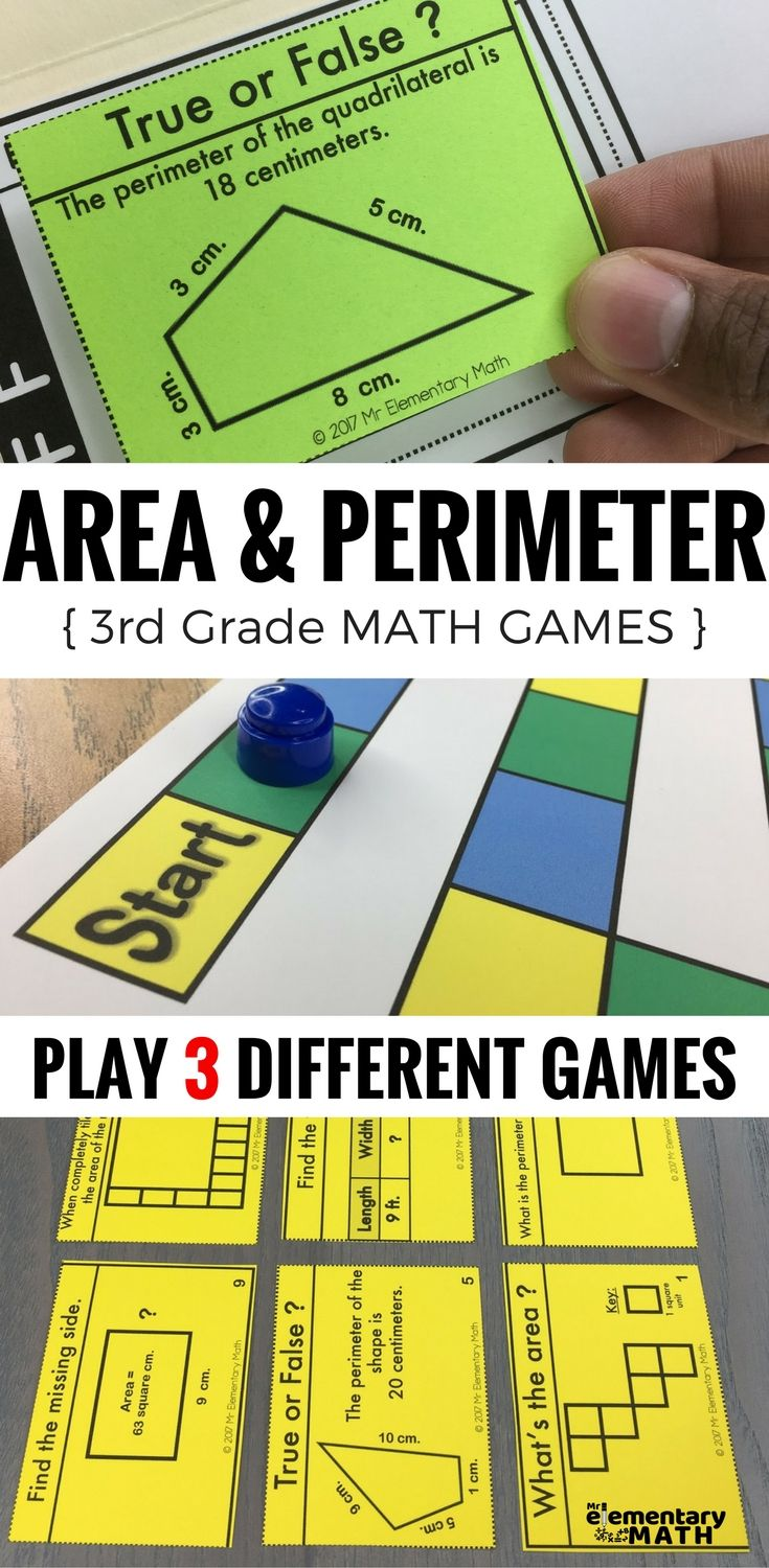 3rd Grade Area and Perimeter Games and Centers | Area ...