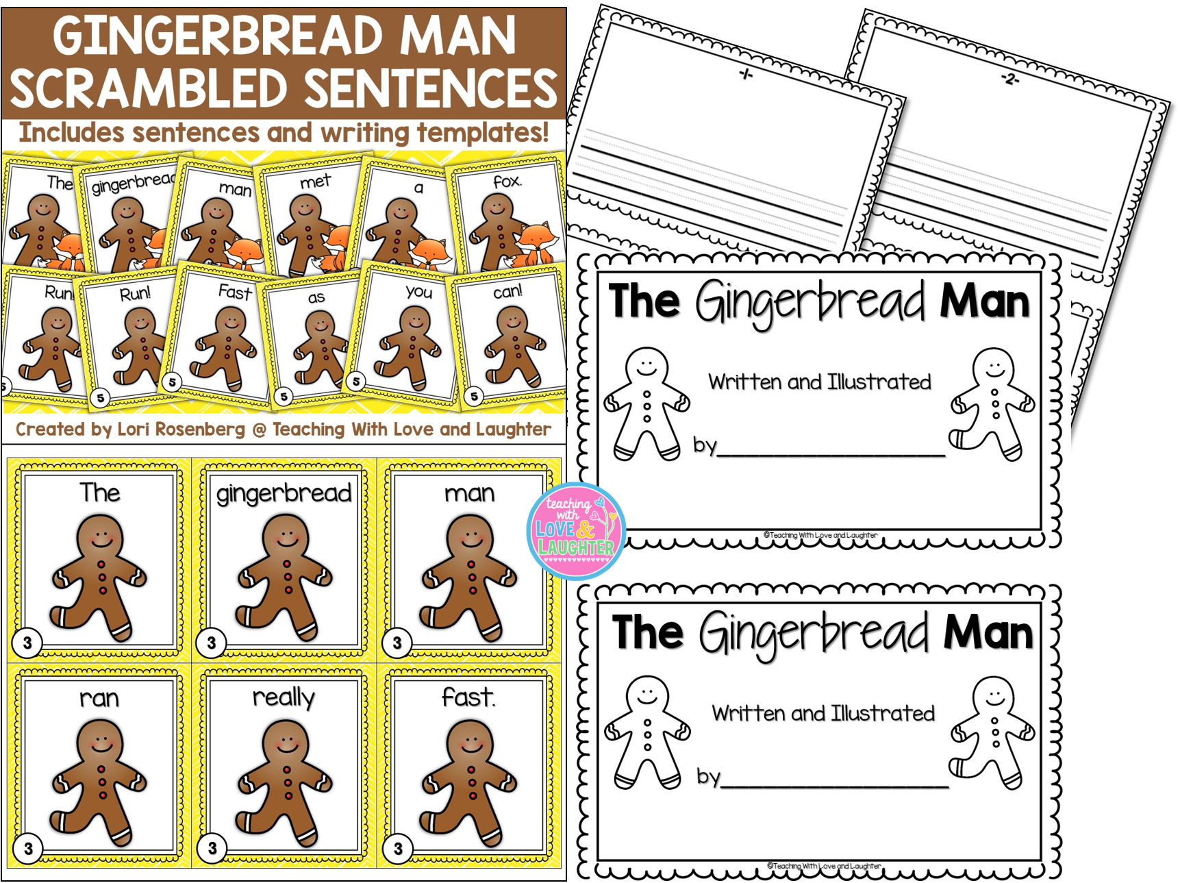 The Gingerbread Man Scrambled Sentences By Teaching With
