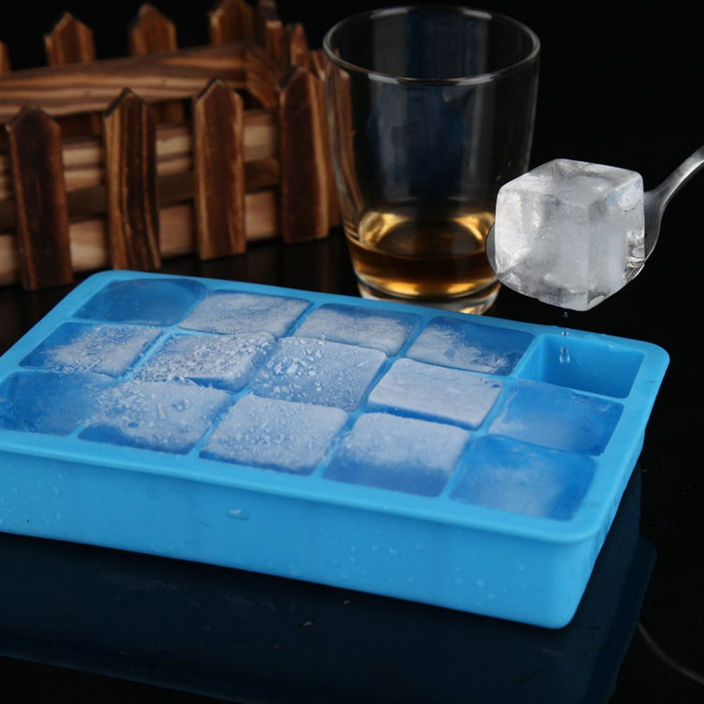 Diy Creative Big Ice Cube Mold Square Shape Silicone Ice Tray Fruit Ice Cube Maker Bar Kitchen Accessories 5 Fruit Ice Cubes Silicone Ice Trays Ice Cube Maker