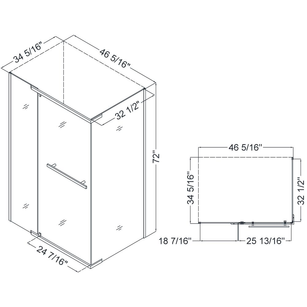 smallest shower stall dimensions