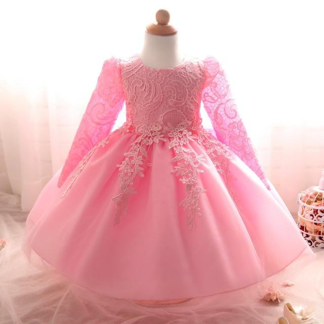 Toddler Kids Baby Girls Party Long Sleeve Ball Gown Princess Tutu Dress Clothes