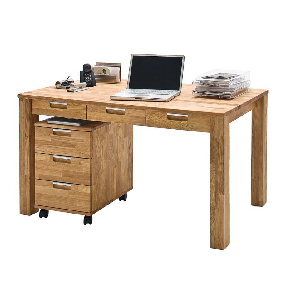 Schreibtisch Lumberjack Massivholz Kernbuche Kaufen Home24 Eiche Massiv Schreibtisch Tisch