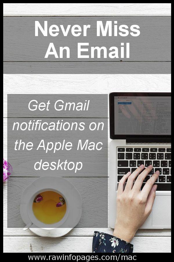 Get desktop Gmail notifications using Safari in macOS