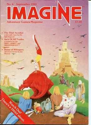 Imagine TSR RPG Magazine Issue 6 Thief Acrobat Fiction by Ian Watson   eBay