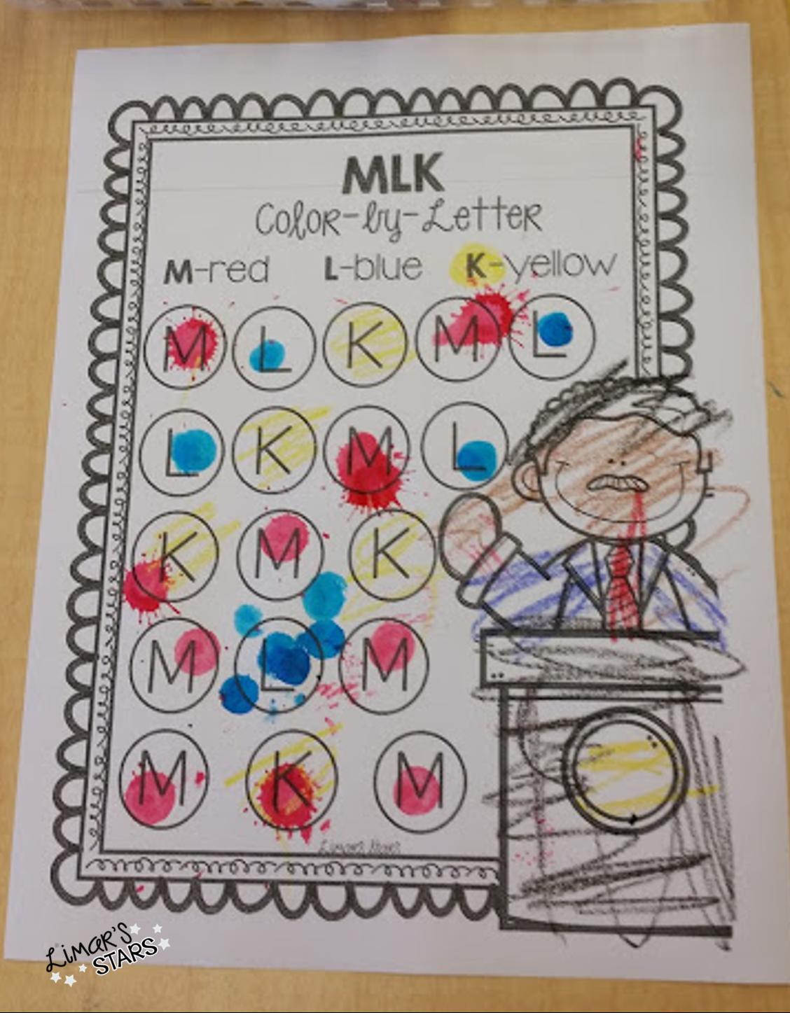 Martin Luther King Jr Letter Work Freebie