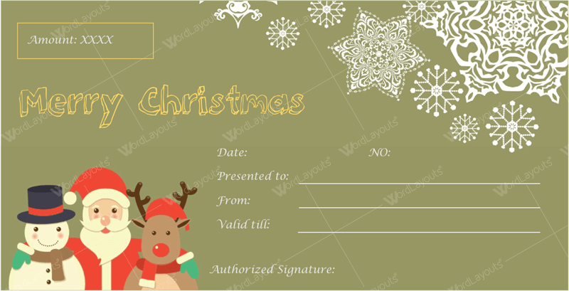 Christmas Gift Certificate Template 29 Word Layouts Christmas Gift Certificate Template Gift Card Template Gift Certificate Template
