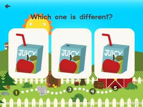 Animal Pre k Chauncey Spot The Difference- Best Top Apps for Kids - iOS iPad Game Play - YouTube