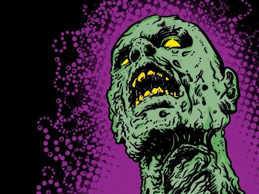 Zombie With Purple Back Drop Zombie Wallpaper Cool Zombie Wallpapers Rob Zombie Art