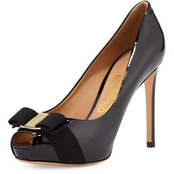 Salvatore Ferragamo Nubuck Peep-Toe Pumps buy cheap store 2Nf6jWkX66