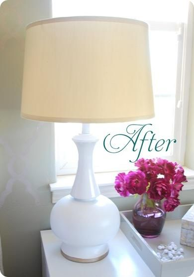 Diy Spray Painting Brass Lamps Withheart