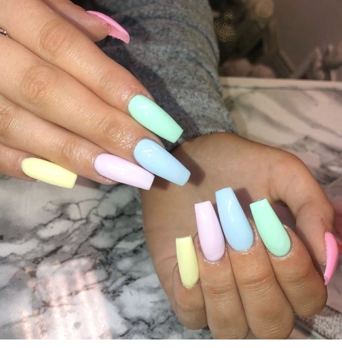 Trendy Summer Acrylic Nail Designs Nail Nailart Naildesign