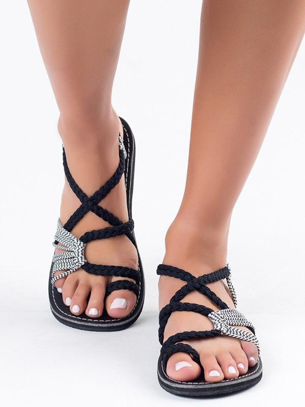 Bohemia Beach Flat Sandal Shoes | Women shoes, Ankle sandals