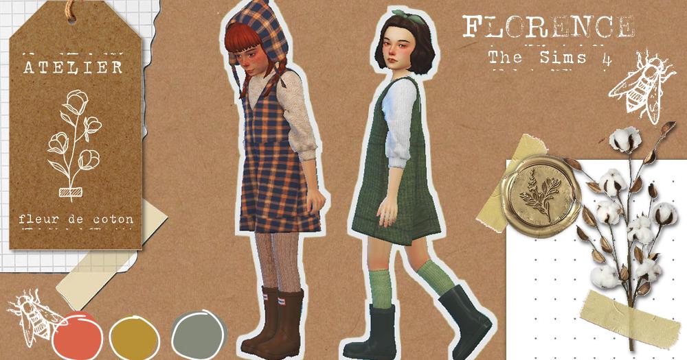 Florence | The Sims 4 | Atelier Fleur de Coton