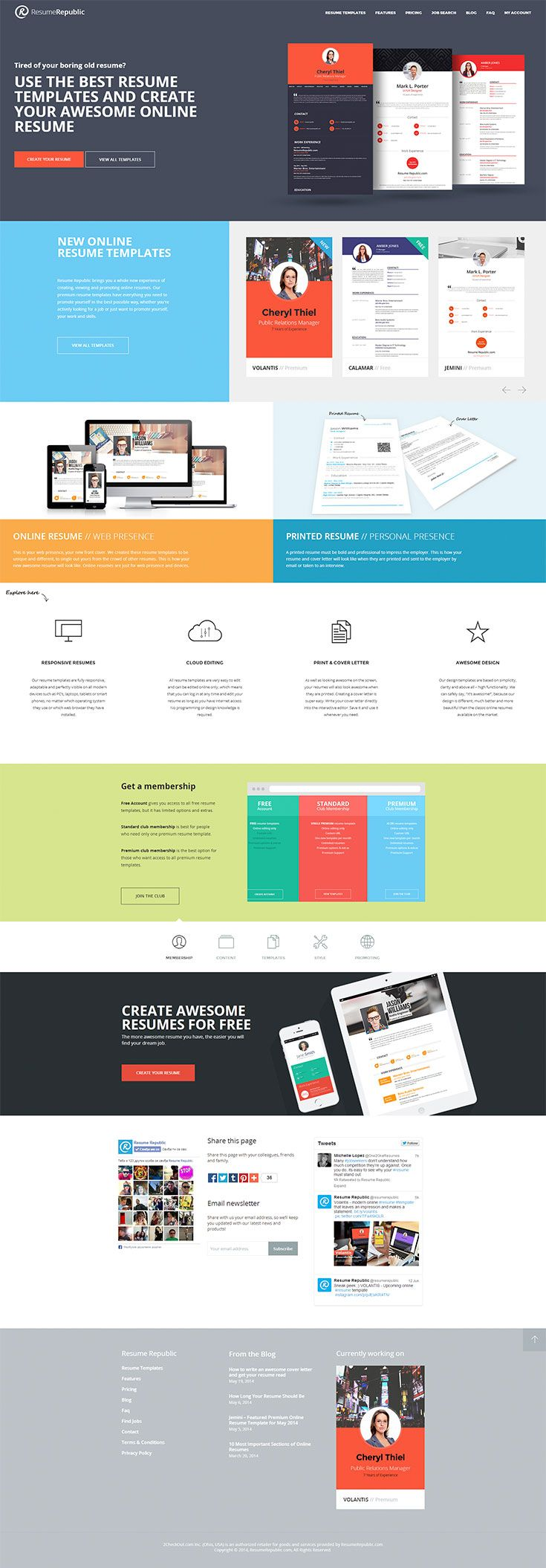Web Resume Template Awesome Online Resume Templates  Projects  Pinterest  Online