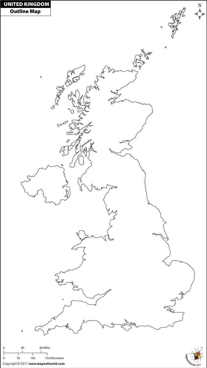 United Kingdom Outline Map England Map Map Outline Map