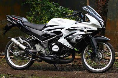 Modifikasi Motor Ninja Rr Jari Jari Putih