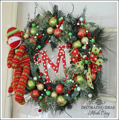 Christmas wreath ideas from Jennifer Decorates *Remember When - christmas wreath decorations