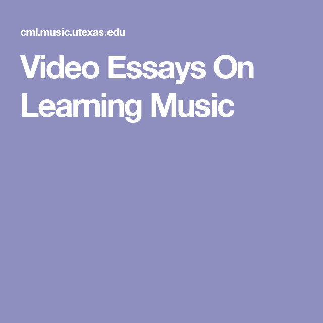 Essays For High School Students To Read Video Essays On Learning Music Learning Music Piano Pianos Proposal For An Essay also Narrative Essay Topics For High School Video Essays On Learning Music  Piano Playing  Teaching  What Is The Thesis Statement In The Essay