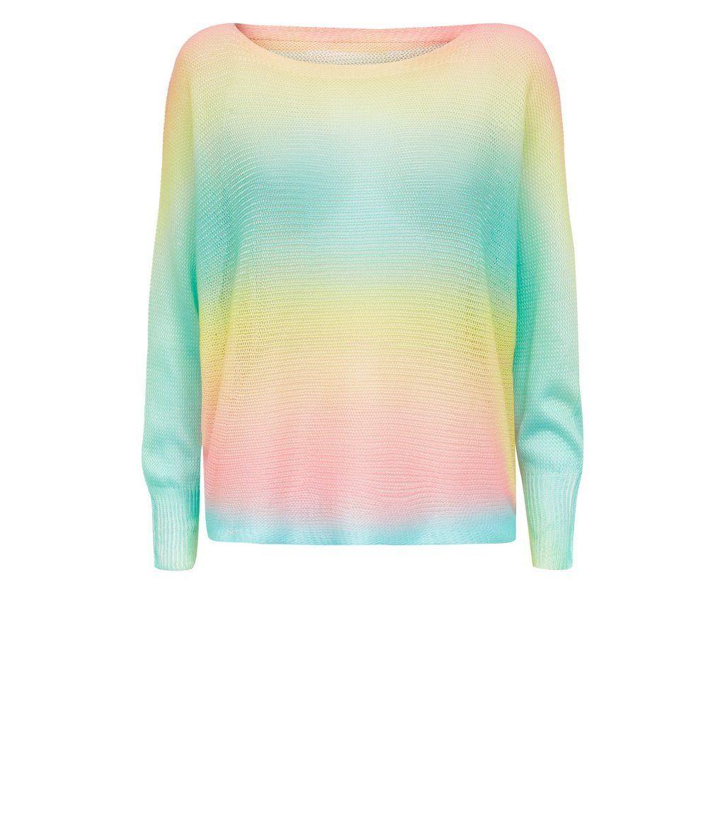 Cameo rose rainbow fine knit jumper wishlist clothes