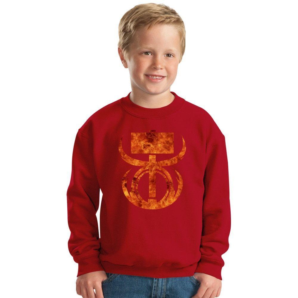 Destiny Titan Hammer Of Sol Kids Sweatshirt