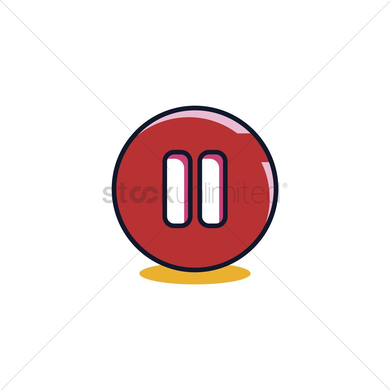 Pause button stock vector , #ad, #button, #Pause, #vector, #stock #affiliate