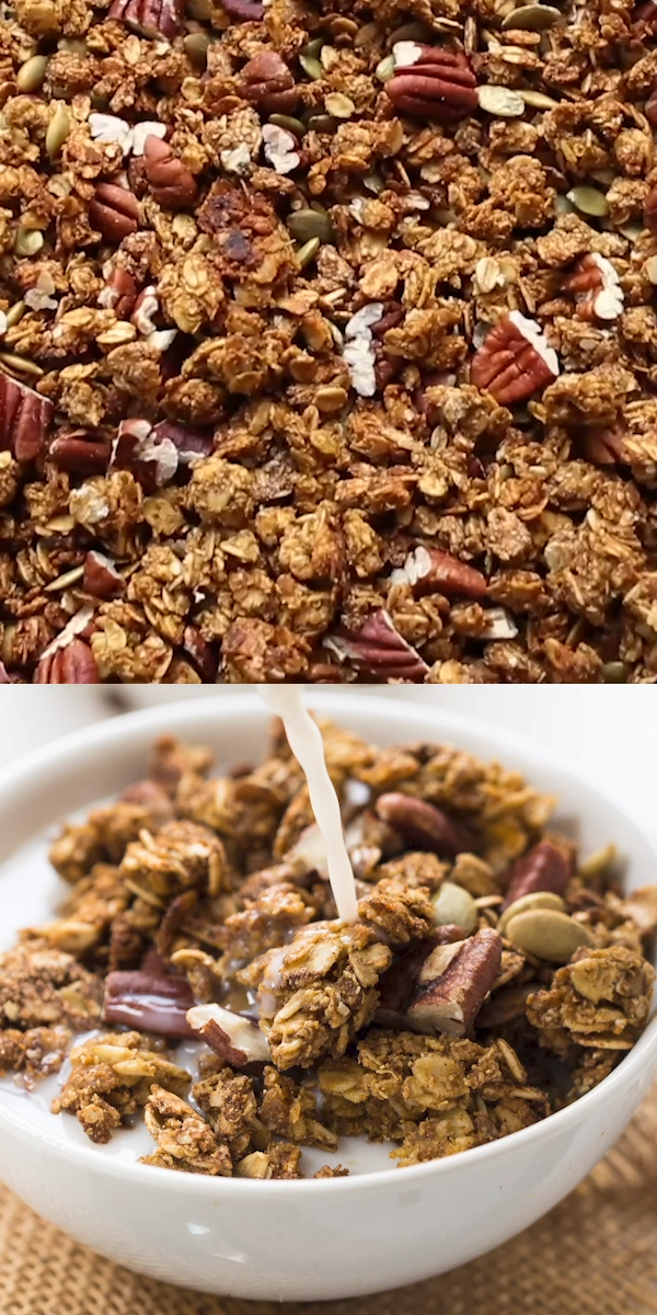 Photo of Healthy Pumpkin Quinoa Granola