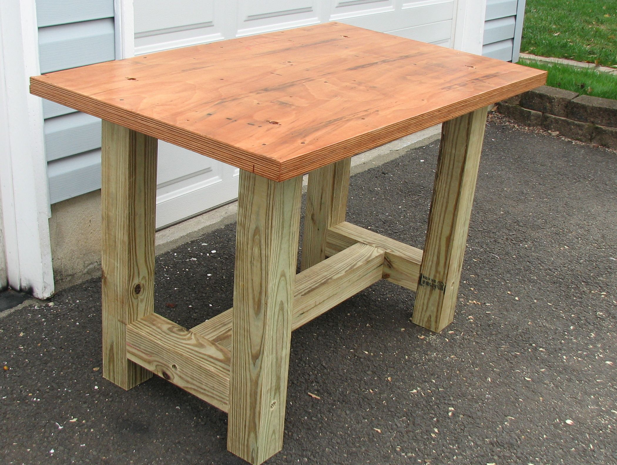 Woodworking Table Ideas Build A Beefy Work Table For Under 50 Upcycle Stuff