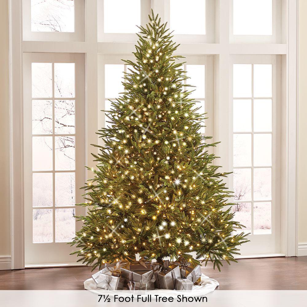The World S Best Prelit Fraser Fir Hammacher Schlemmer Best Artificial Christmas Trees Live Christmas Trees Realistic Artificial Christmas Trees