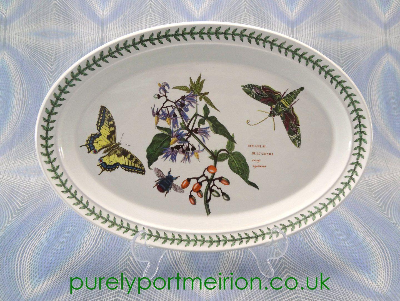 Attractive Portmeirion Botanic Garden Vintage Oval Platter Woody Nightshade