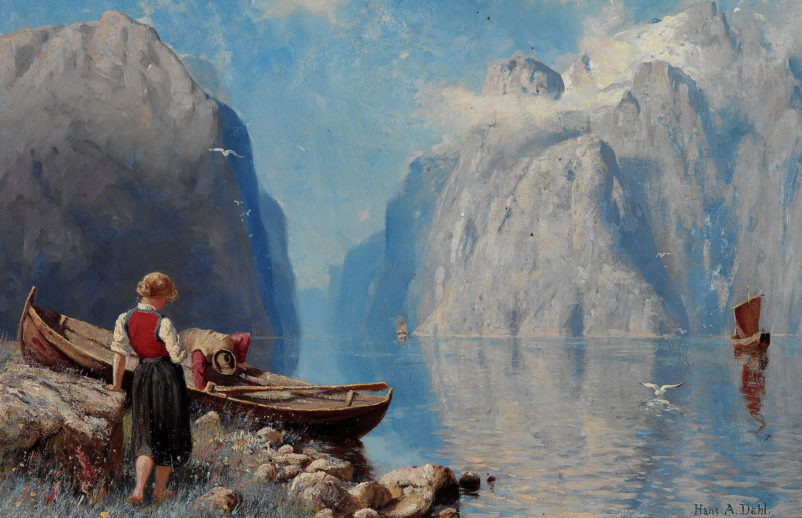 Famous Norweigian Paintings Google Search Scandinavian Paintings Folk Art Painting Fine Art Painting