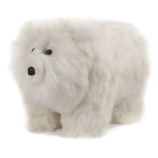 Strange Friendly Plush Polar Bear Footstool Animal Footstools Pabps2019 Chair Design Images Pabps2019Com