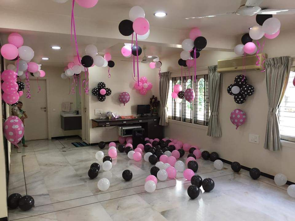 1000 Balloon Decoration At Home Ideas And Videos Best Packages Simple Birthday Decorations Diy Balloon Decorations Surprise Birthday Decorations