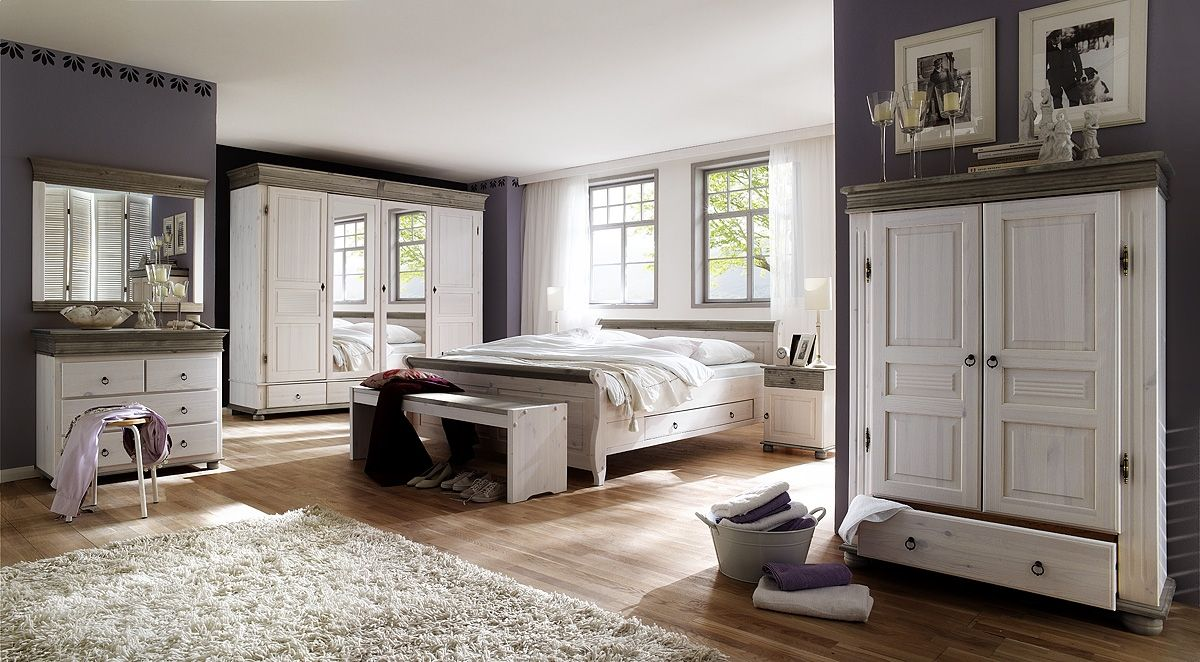 Massivholz Möbel online kaufen Landhaus schlafzimmer
