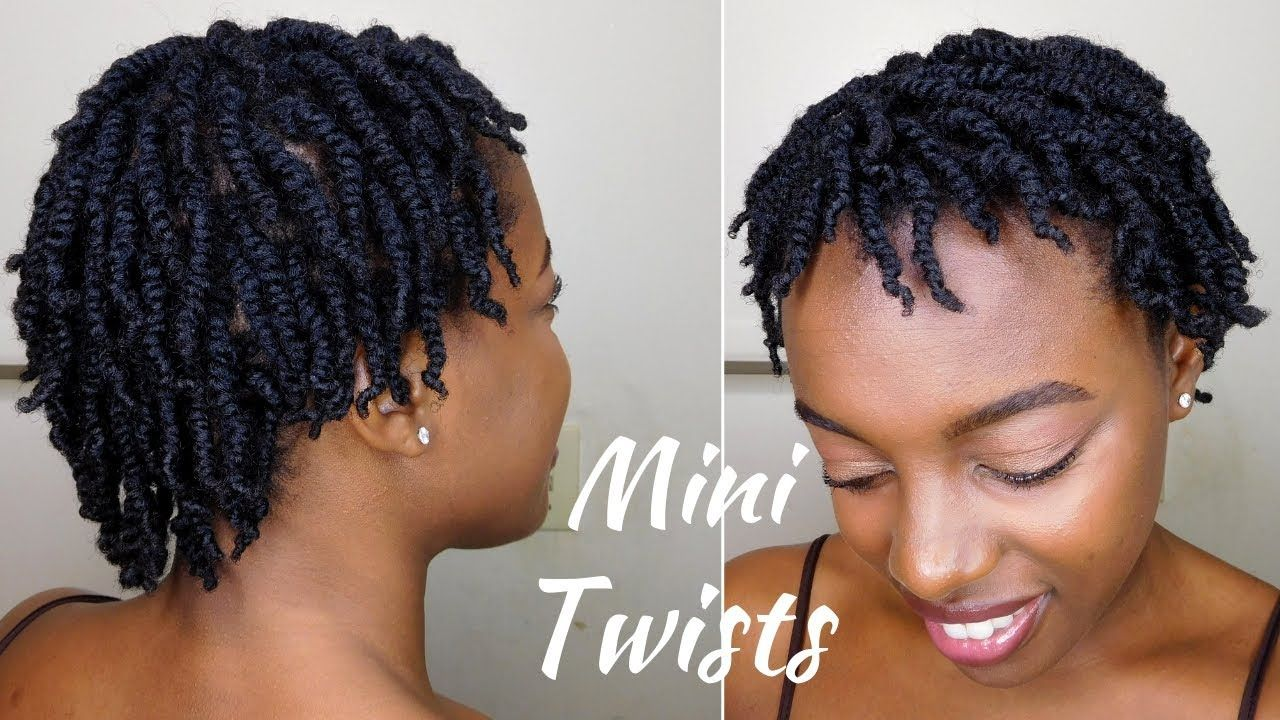 How To Super Juicy Mini Twists On Short 4c Natural Hair Youtube Natural Hair Twists Short Hair Twist Styles Twist Hairstyles