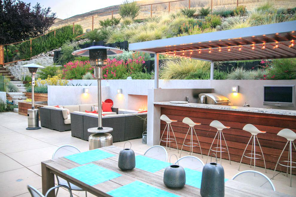 Modern Outdoor Kitchen Modern Outdoor Patio Contemporary With Stucco Walls Outdoor Modern Contem Patio Design Modern Outdoor Kitchen Concrete Outdoor Fireplace
