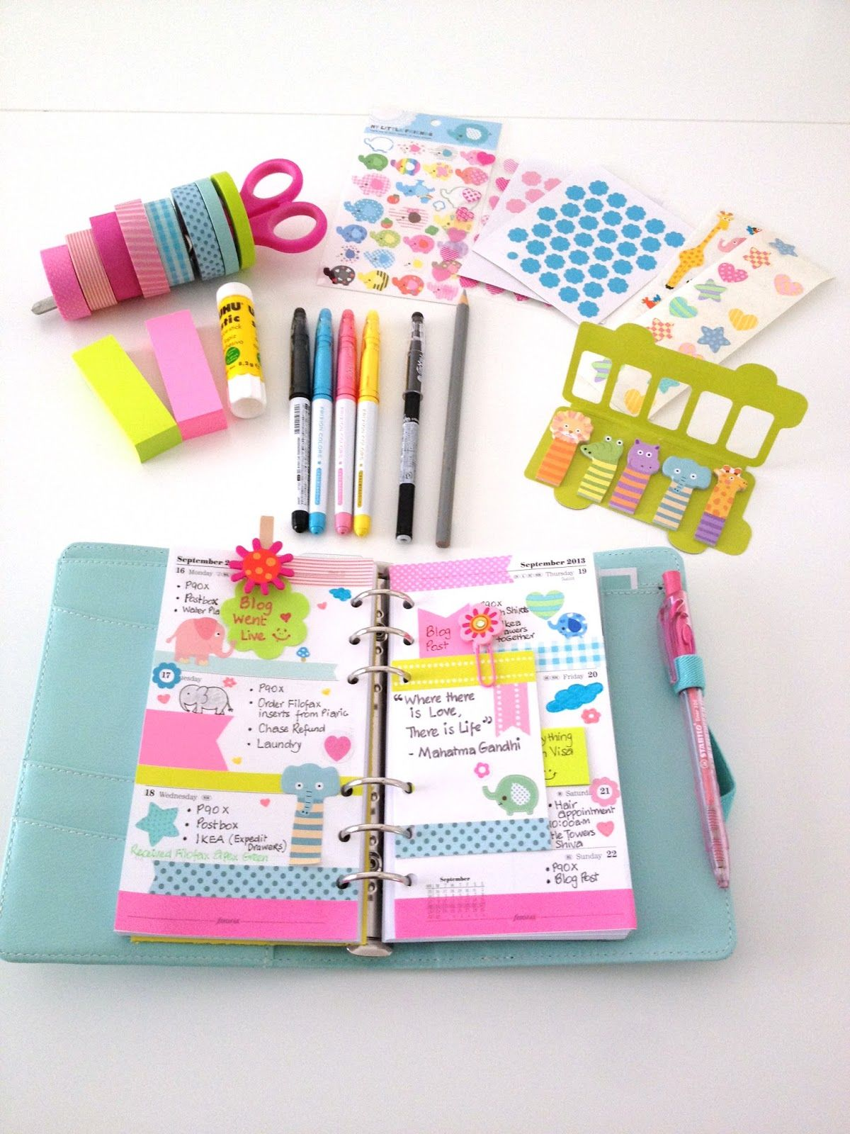 Coloursnme this week in my kikkik medium time planner