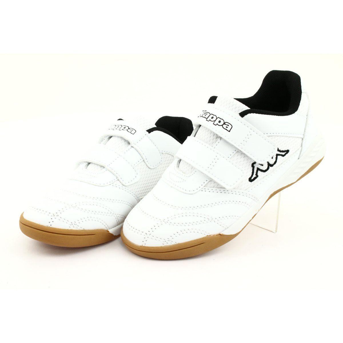 Kappa Kickoff Jr 260509k 1011 Shoes White Black Kid Shoes Shoes Indoor Shoe