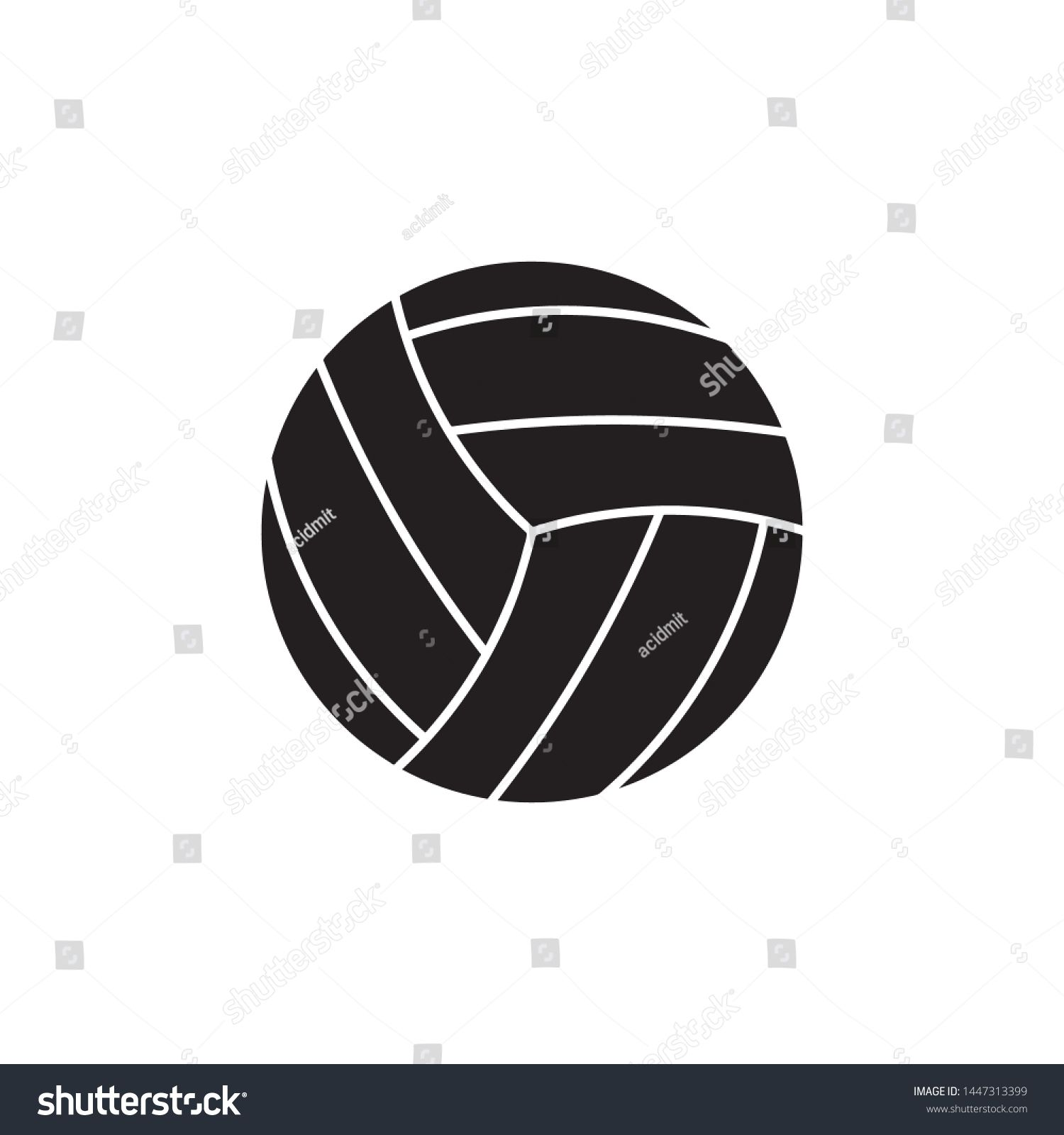 Volleyball Ball Flat Line Icon On White Background Simple Vector Logo Art For Tournament Illustration And Sport Apps Eps 10 Ad Aff In 2020 Art Logo Line Icon Art