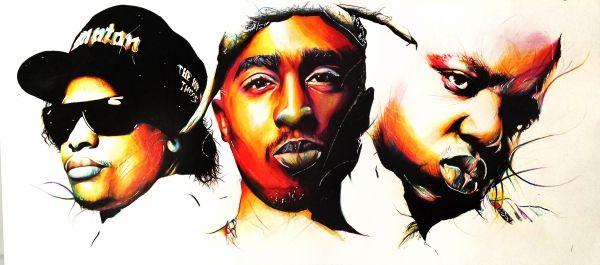 Eazy E, Tupac, Biggie Smalls by NEKVI | Biggie smalls ...