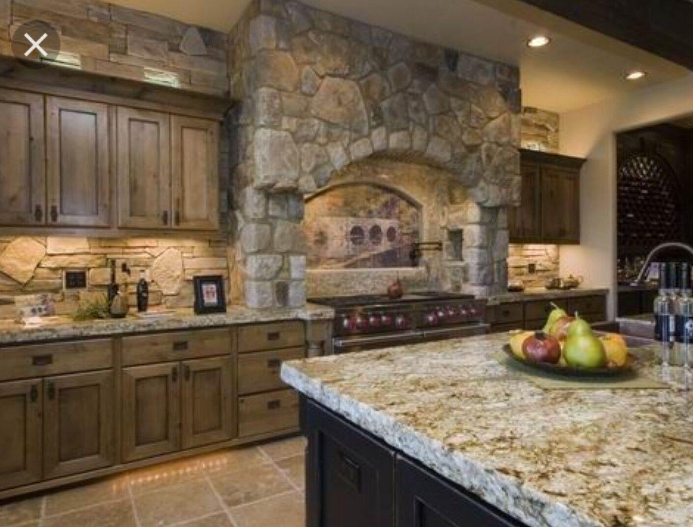 Cabinet Stain | Alder kitchen cabinets, Tuscan kitchen ...